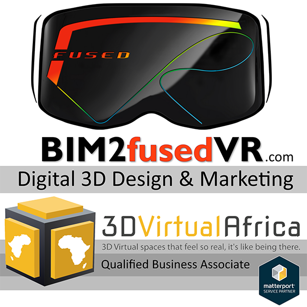Matterport Service Partner - #Scan2BIM - 3D Virtual Africa - 3D Point Cloud surveys and As-Built BIM models and 2D drawings